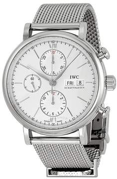 IWC Portofino Automatic Chronograph Silver Dial Men's Watch