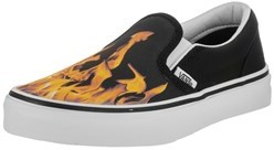 Vans Kids Classic Slip-on (digi Flame) Skate Shoe.