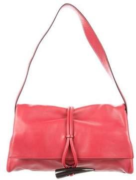 Burberry Haymarket Check-Trimmed Shoulder Bag