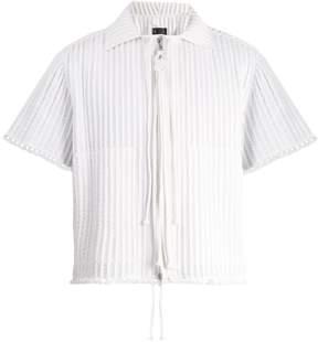 Craig Green Piped zip-through cotton shirt