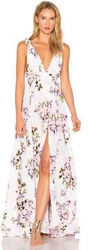 Beach Riot Deep V Floral Gown