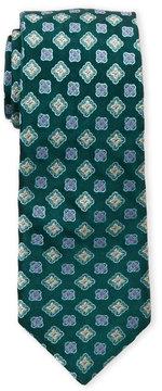 Ike Behar Green Silk Tie
