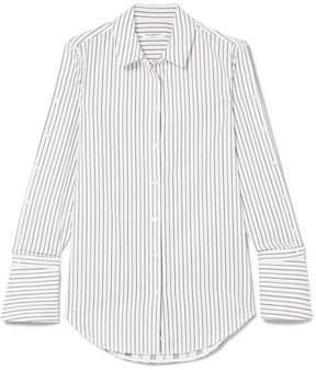 Equipment Rossi Pinstriped Cotton-poplin Shirt - White