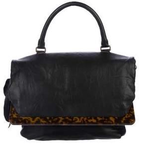 Lanvin Tortoiseshell-Trimmed Shoulder Bag