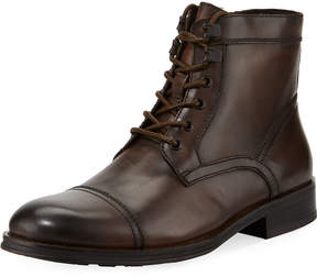 Kenneth Cole Design Leather Lace-Up Boot, Brown