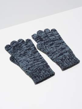 Frank and Oak 2-Tone Wool-Blend Knit Gloves in Indigo