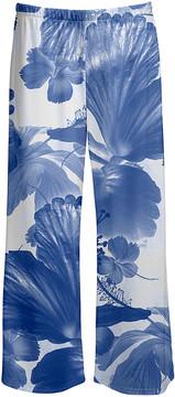 Lily Blue & White Floral Crop Pants - Women & Plus