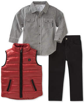 Calvin Klein 3-Pc. Vest, Shirt & Pants Set, Toddler Boys (2T-5T)