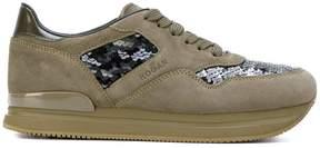 Hogan sequin embellished platform sneakers