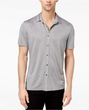 Alfani Men's Heather Stretch Shirt, Created for Macy's