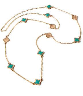 Amrita Singh Teal & Goldtone Noho Filigree Clover Station Necklace