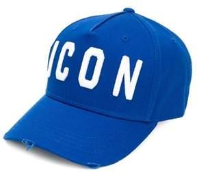 DSQUARED2 Men's Bcm400105c00001m1487 Blue Cotton Hat.