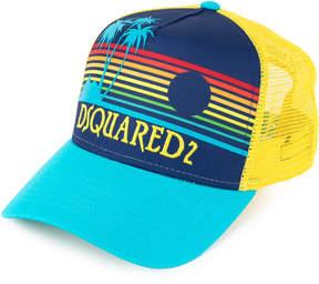 DSQUARED2 sunset print baseball cap