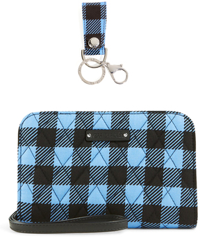 Vera Bradley Alpine Check Loop Key Chain & Zip-Around Wristlet - ALPINE - STYLE