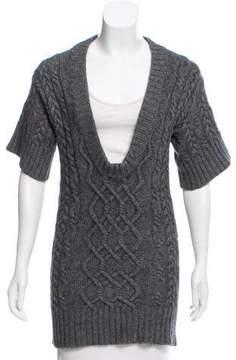 Autumn Cashmere Cashmere-Blend Cable Knit Tunic