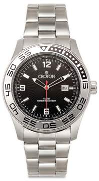 Croton Men's Stainless Steel Watch - Silver/Black