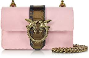 Pinko Light Pink Mini Love Python Western Shoulder Bag