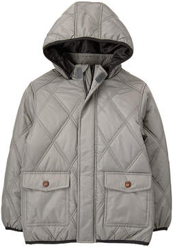 Gymboree Gray Diamond Quilted Jacket - Toddler