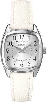 Timex Carriage by Women's Courtney Watch, White Textured Strap
