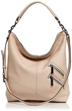 Rebecca Minkoff Jamie Convertible Embossed Leather Hobo - NUDE/GUNMETAL - STYLE