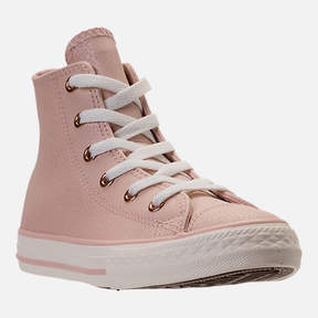 Converse Girls' Preschool Chuck Taylor High Top Leather Casual Shoes