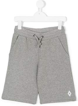 Marcelo Burlon County of Milan Kids logo embroidered jersey shorts