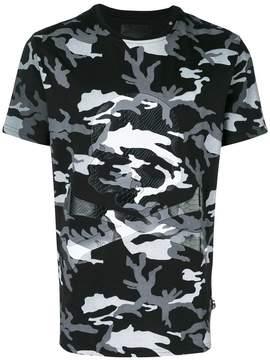 Philipp Plein camouflage skull print T-shirt
