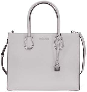 Michael Kors Mercer Large Bonded Leather Tote - Pearl Grey - ONE COLOR - STYLE