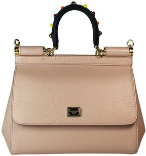 Dolce & Gabbana Pink Jewelled Handle Sicily Small Tote - PINK - STYLE
