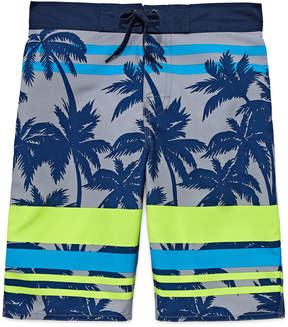 Arizona Boys Palm Tree Swim Trunks-Big Kid