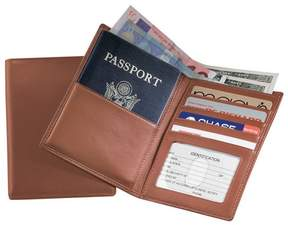 Royce Leather ROYCE RFID Blocking Bifold Passport Currency Travel Wallet Handcrafted in Genuine Tan Leather