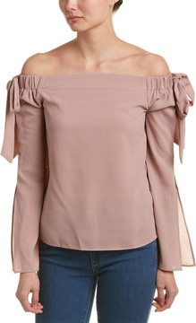 Cotton Candy Off-The-Shoulder Blouse