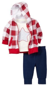 Isaac Mizrahi Long Sleeve Top, Hoodie & Pant Set (Baby Boys)