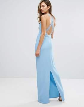 Club L Lace Back Detail Maxi Dress