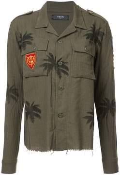 Amiri palm-print military shirt
