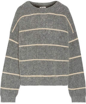 Acne Studios Rhira Striped Knitted Sweater - Gray