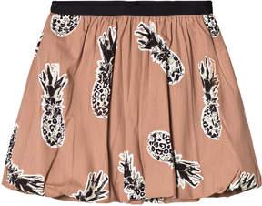 Ikks Camel Pineapple Print Skirt