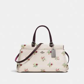 COACH Coach Fulton Satchel With Cross Stitch Floral Print - DARK GUNMETAL/CHALK CROSS STITCH FLORAL - STYLE
