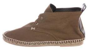Hermes Canvas Ankle Boots