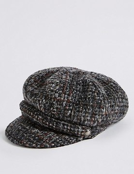 Marks and Spencer Brushed Tweed Winter Hat