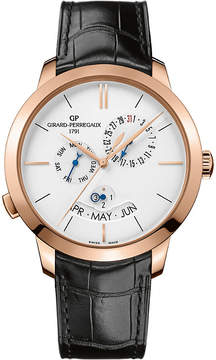 Girard Perregaux GIRARD-PERREGAUX 49547-52-131-BB60 1966 alligator-leather and 18ct rose-gold watch