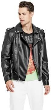 GUESS Men's Snake Tassel Moto Jacket