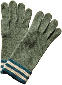 Portolano Men's Green Cashmere Gloves