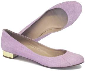 J.Crew Collection Janey Snakeskin Flats in Dried Lavender