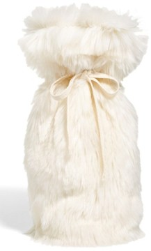 Nordstrom Cuddle Up Faux Fur Wine Bag - Ivory