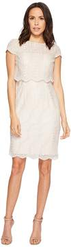 Adrianna Papell Short Lace and Sequin Pop Over Top Cocktail Dress Women's Dress