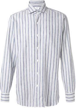 Barba striped button down shirt