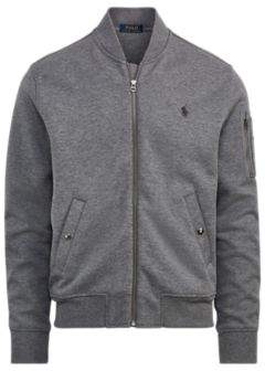 Ralph Lauren Double-Knit Bomber Jacket Foster Grey Heather Xs