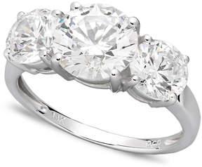 Arabella 14k White Gold Ring, Swarovski Zirconia Three Stone Ring (6-1/5 ct. t.w.)