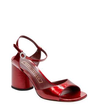 Marc Jacobs Women's Patent Leather Block-Heel Sandal